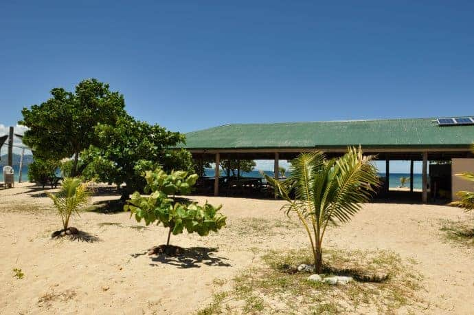 Central Island hut on Savala Island, Fiji. Oolala Lunch.