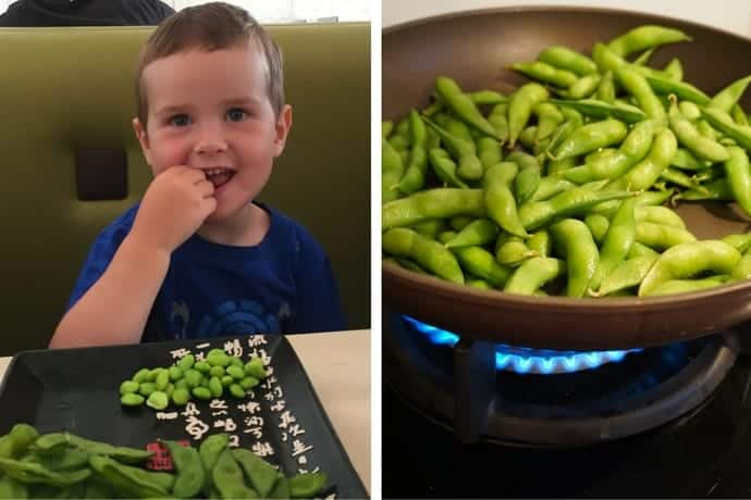 Edamame beans in France
