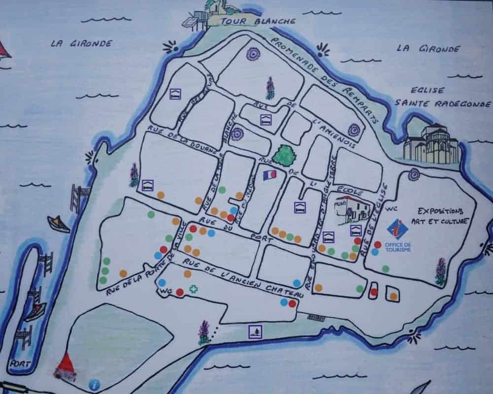 Map of Talmont village, France
