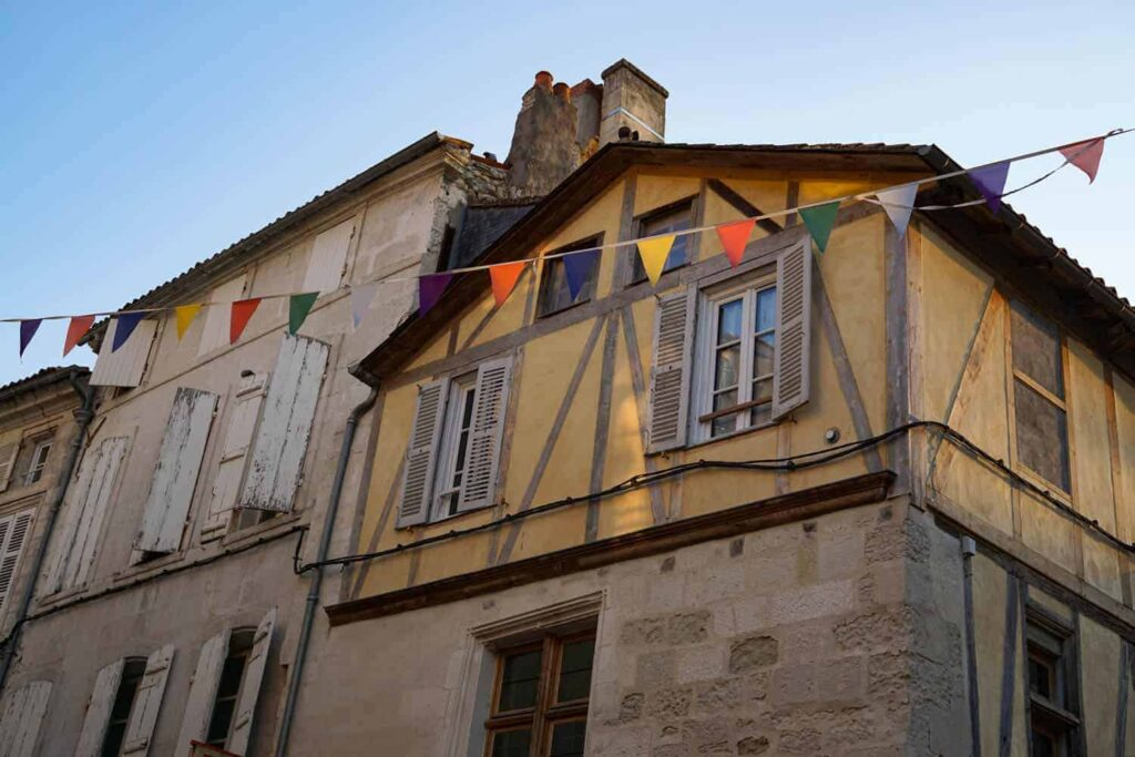 Saintes old town. Charente-Maritime, France
