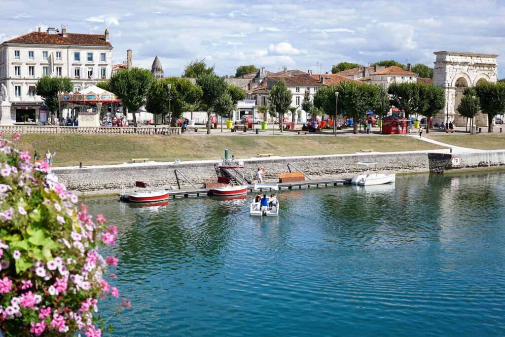 Saintes town centre. Charente-Maritime region, France