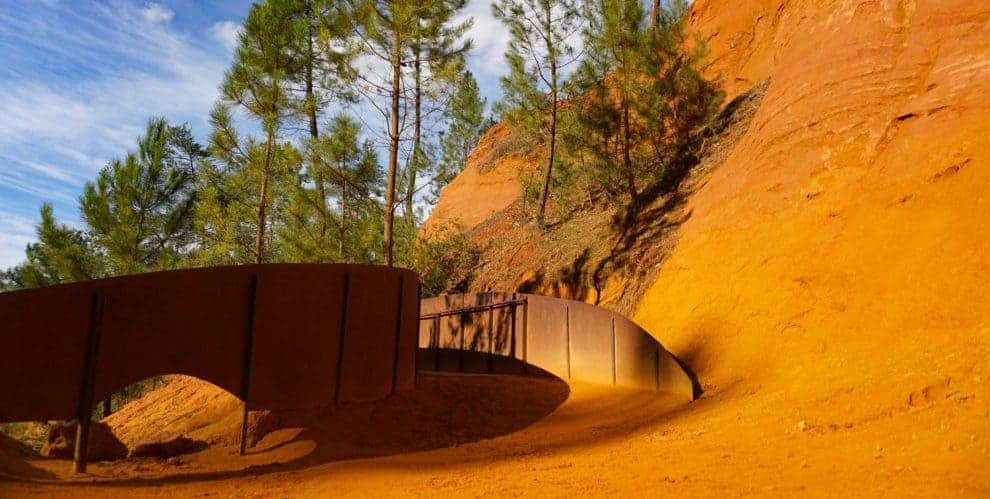 Walking the Ochre Trail, Roussillon, Provence, France