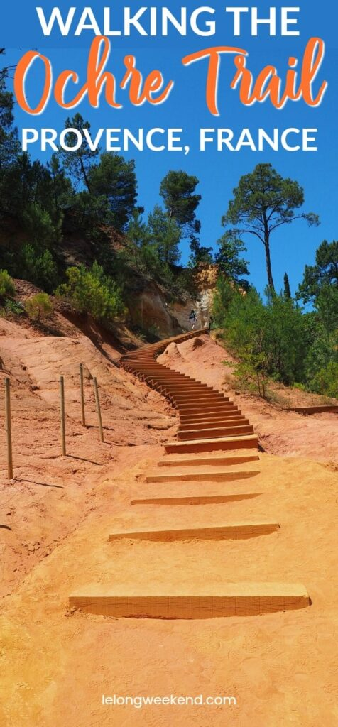 Walking the Ochre Trail in Provence, France. #france #provence #rousillon #walkimg