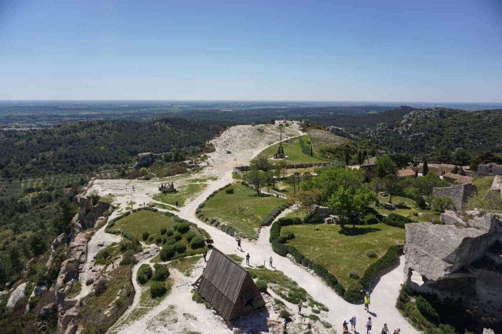 Exploring the citadel at Les Baux de Provence with kids.