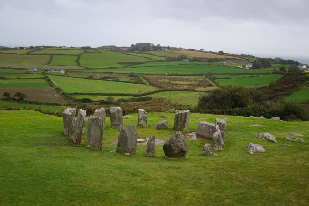 Drombeg stone circle near Rosscarbery, County Cork, Ireland