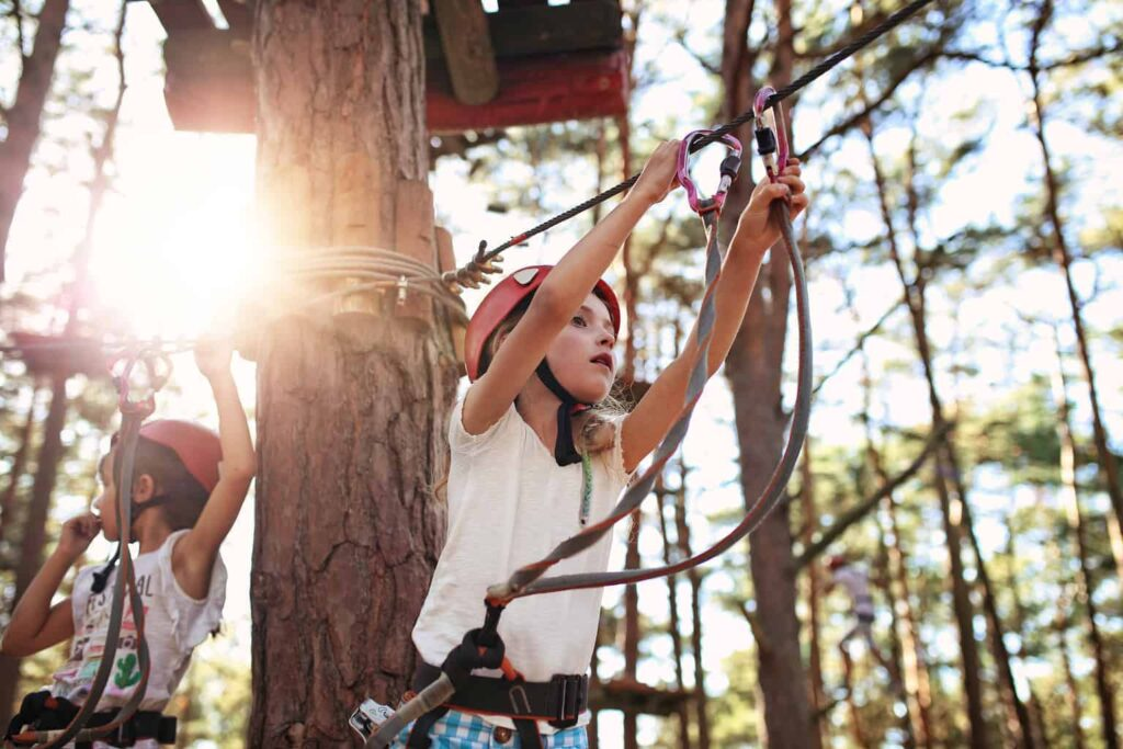 Adrenaline Forest is one of the best Christchurch things to do with kids.