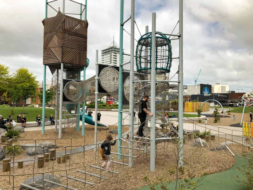 Margaret Mahy playground is one of our top things to do in Christchurch for kids.