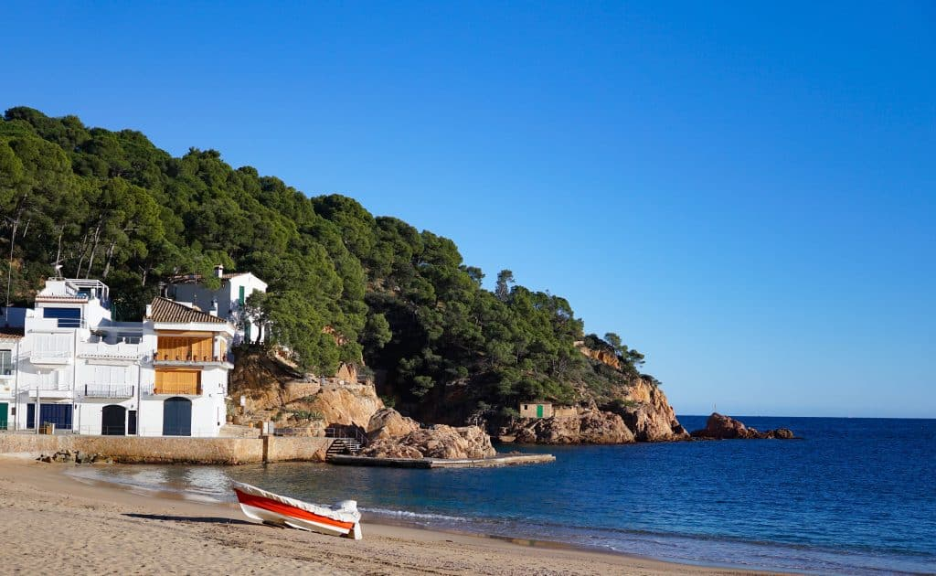 Costa Brava in Winter. Winter sun Spain
