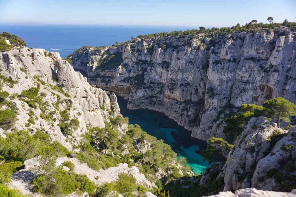The Calanques de Cassis make a great day trip from Aix-en-Provence