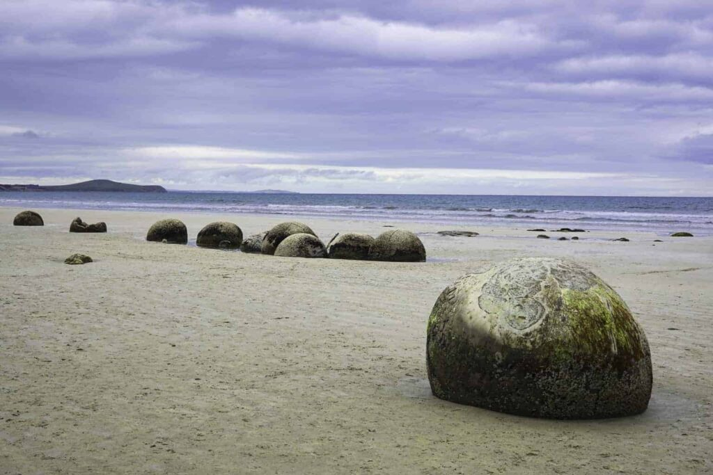 Moeraki boulders are a unique place to visit in New Zealand'