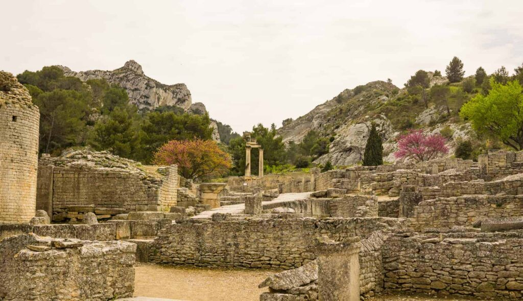 Glanum is a great day trip from Avignon.