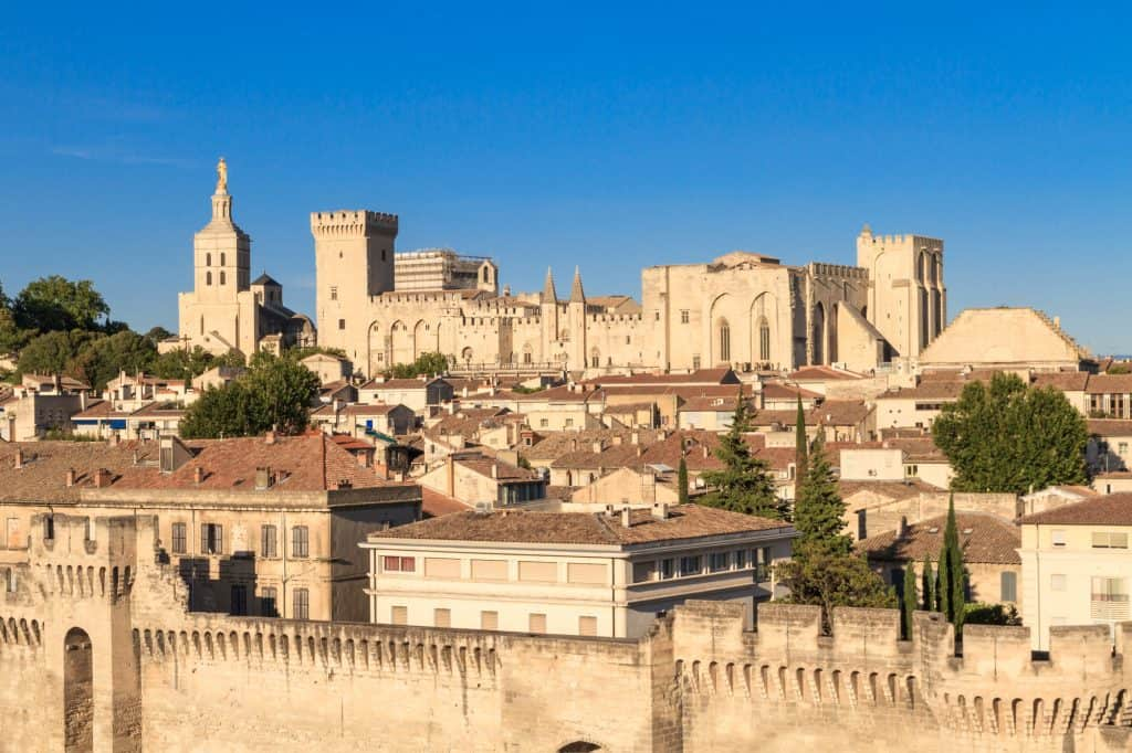 Avignon in Provence. Things to see in Avignon on a day trip from Aix-en-Provence.