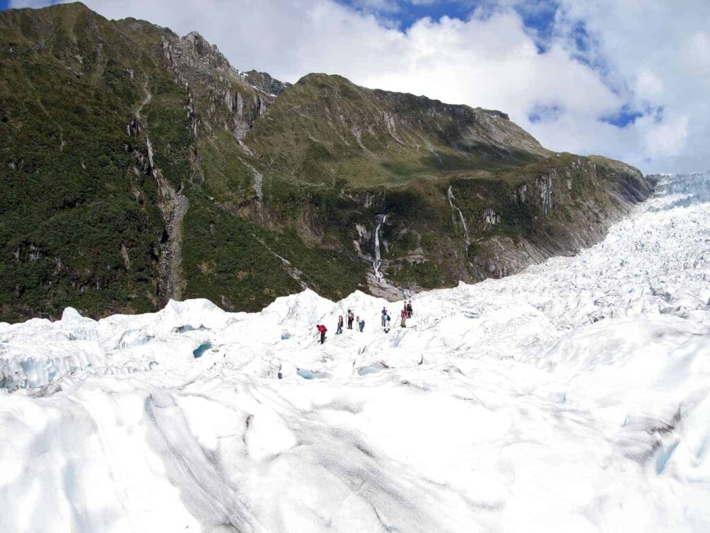 Hiking the Fox Glacier - a unique New Zealand attraction.