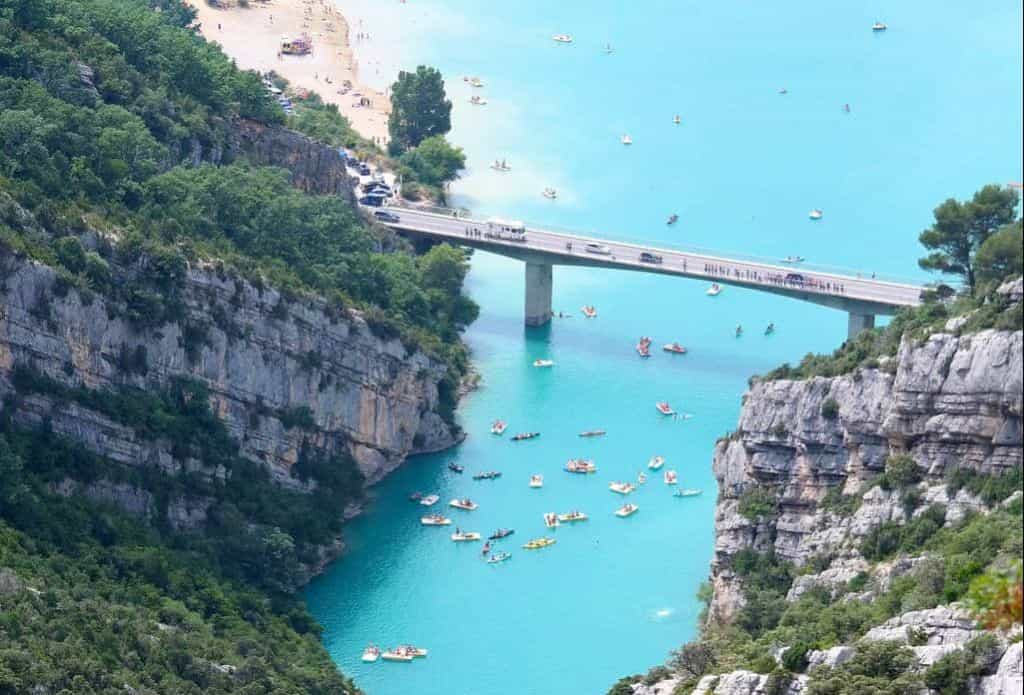 Gorges du Verdon, France is one of the best day trips from Aix-en-Provence
