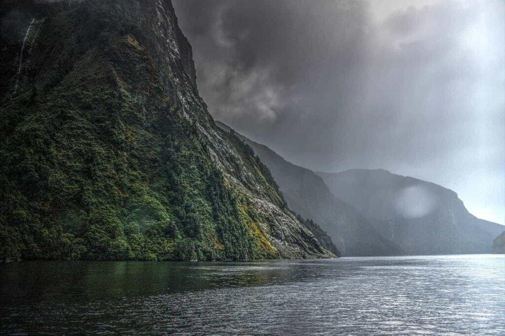 Doubtful Sound in New Zealand's South Island