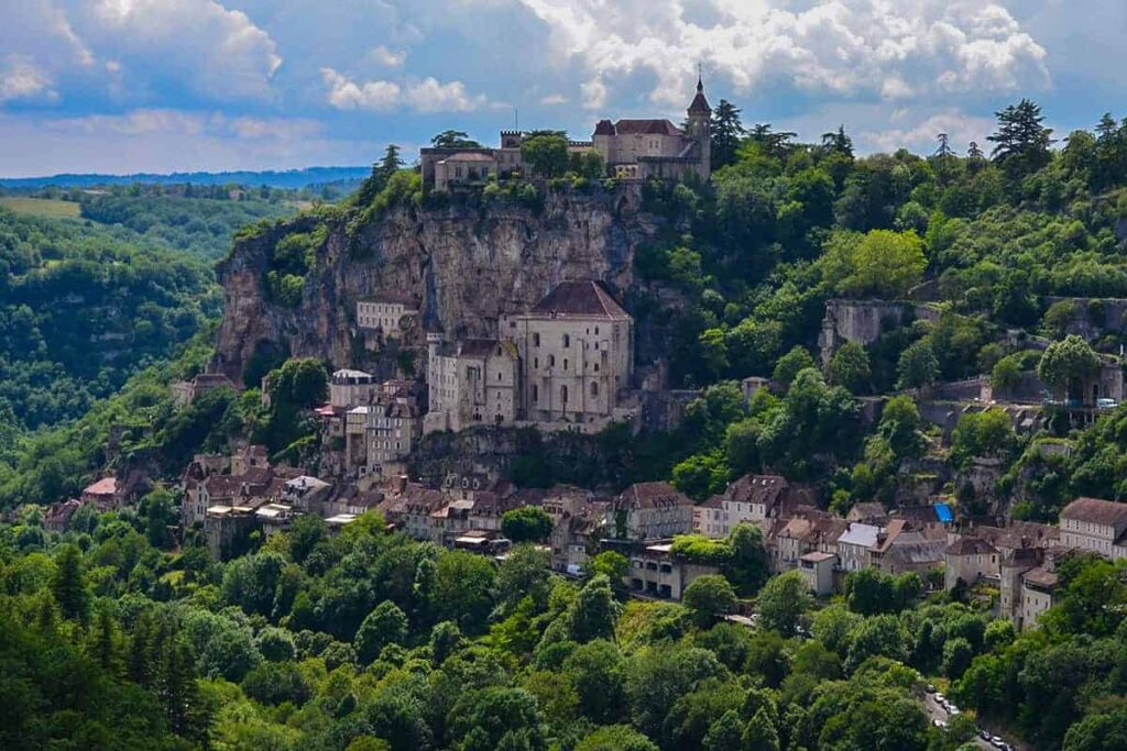 Rocamadour in the Dordogne Valley is one of the most beautiful castles in France