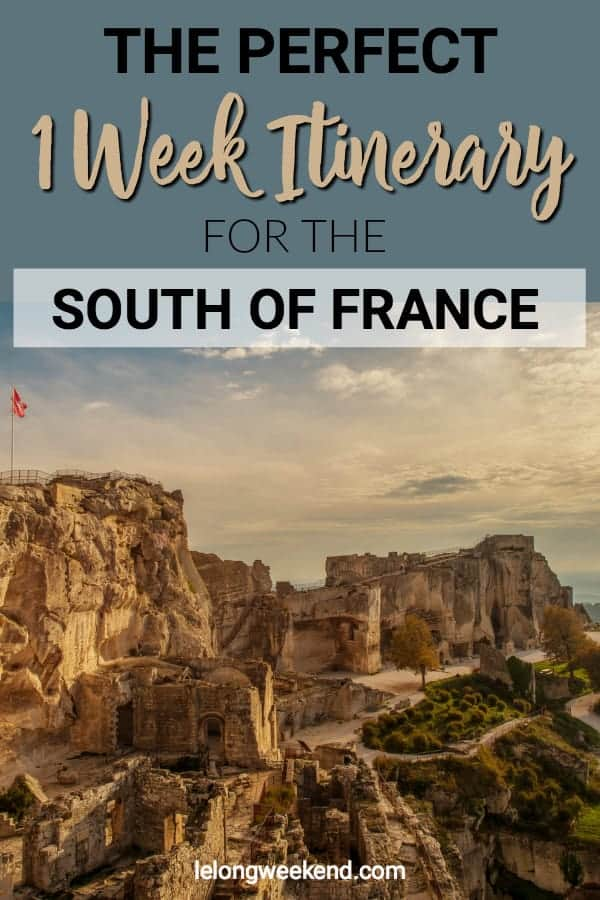 Heading to the South of France and not sure how to best use your time? This one week itinerary takes in the best of southern France and introduces you to some of the best sights in Provence! #Provence #france #itinerary #southoffrance