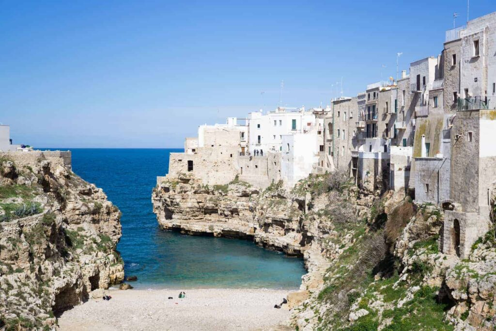 Polignano a Mare is one of the best beaches in Puglia, Italy