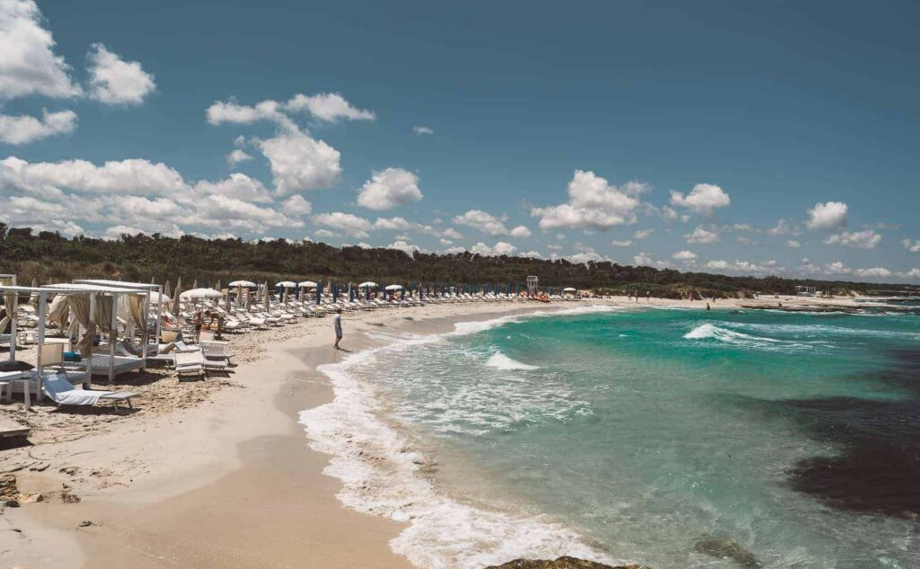 Mora Mora is one of the best beaches on the Adriatic coast Italy