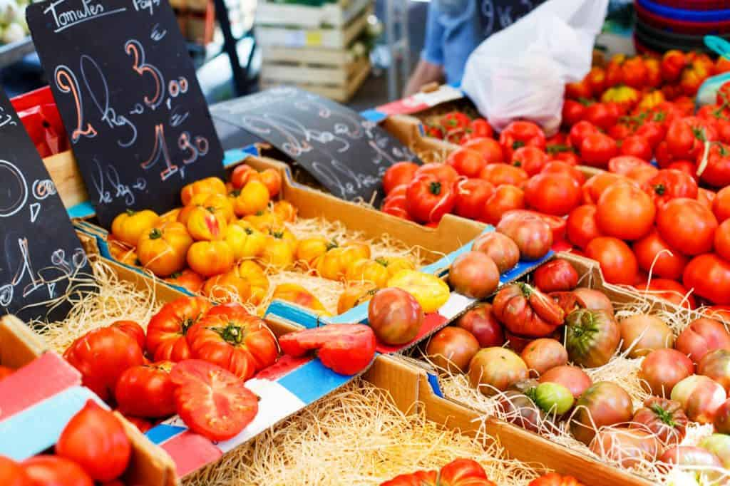 French farmers markets are a great place to shop as a vegan in France