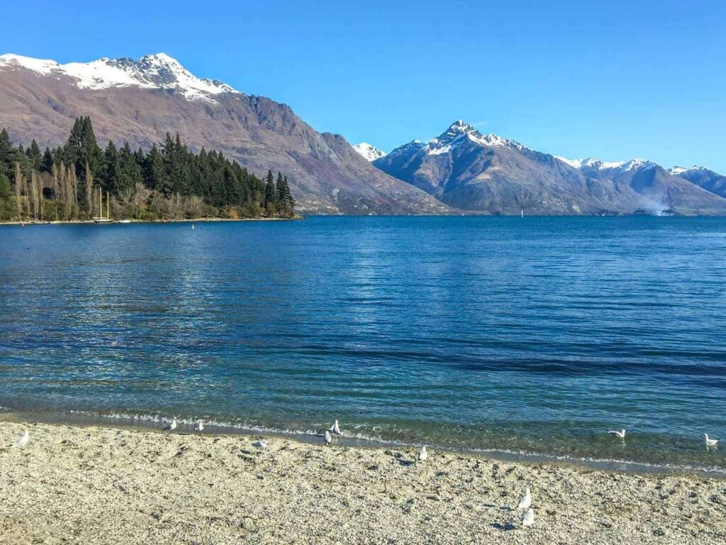 Queenstown Bay is one of the best beaches in New Zealand