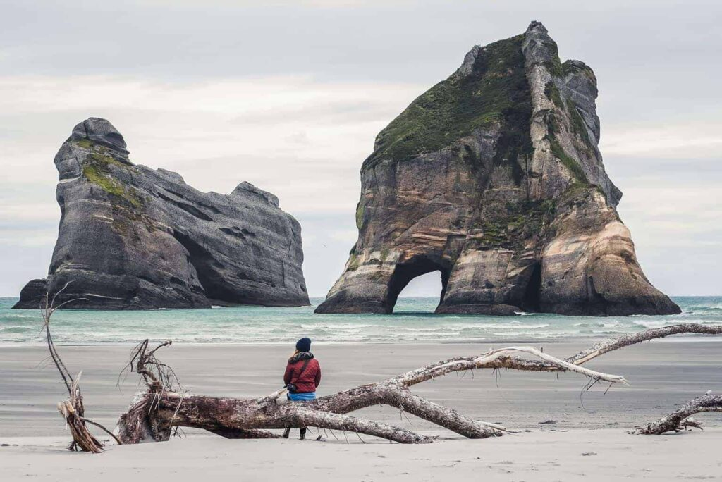 Wharariki Beach is one of the most beautiful beaches in New Zealand
