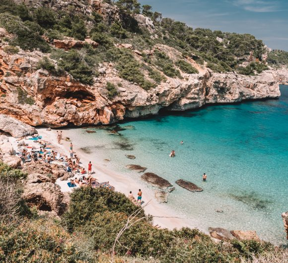 Best beaches in Mallorca, Spain.