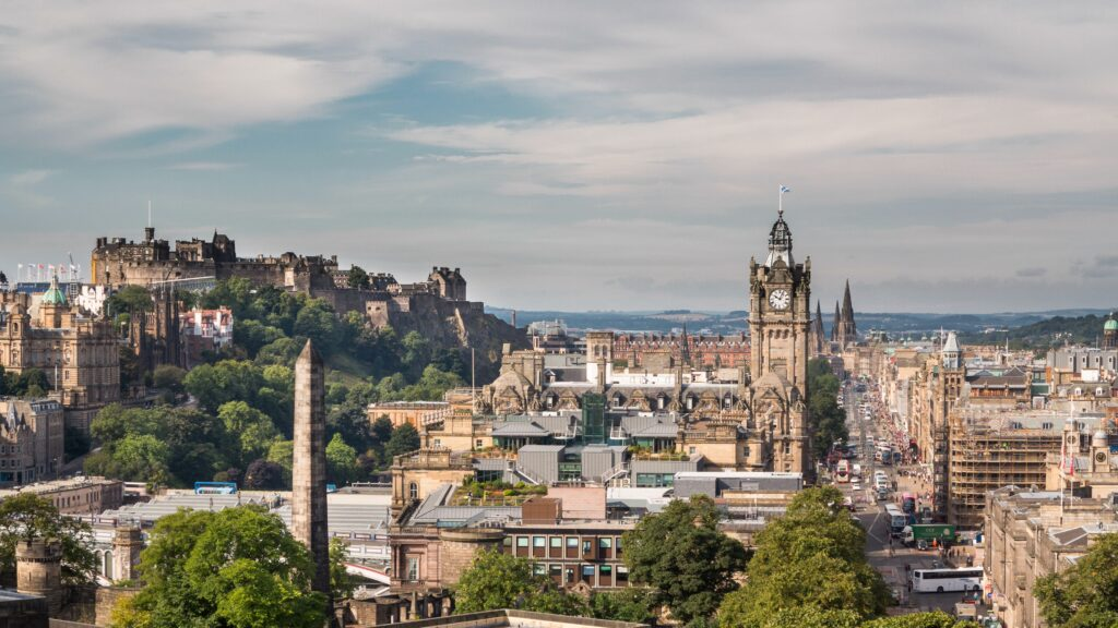 Edinburgh, Scotland is one of the best European cities to visit in August