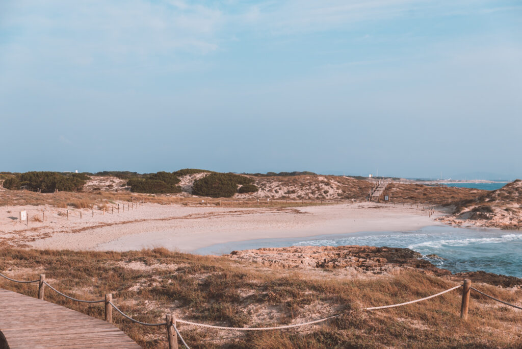 Trucadors Beach in Formentera Spain