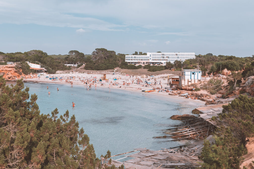 Cala Soana is one of the most beautiful beaches in Formentera, Spain