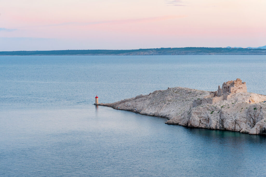 Pag Island is a beautiful undiscovered island to visit in Europe in August