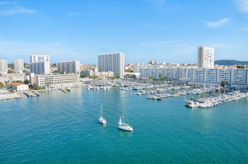 Toulon harbor, France.