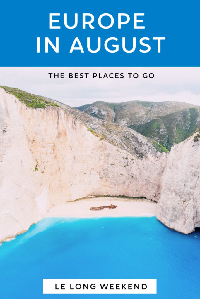 Discover the best European destinations to visit in August. From city hideaways, to majestic beaches, we've covered all the best places to visit in Europe in summer! #europe #summer #vacation #august