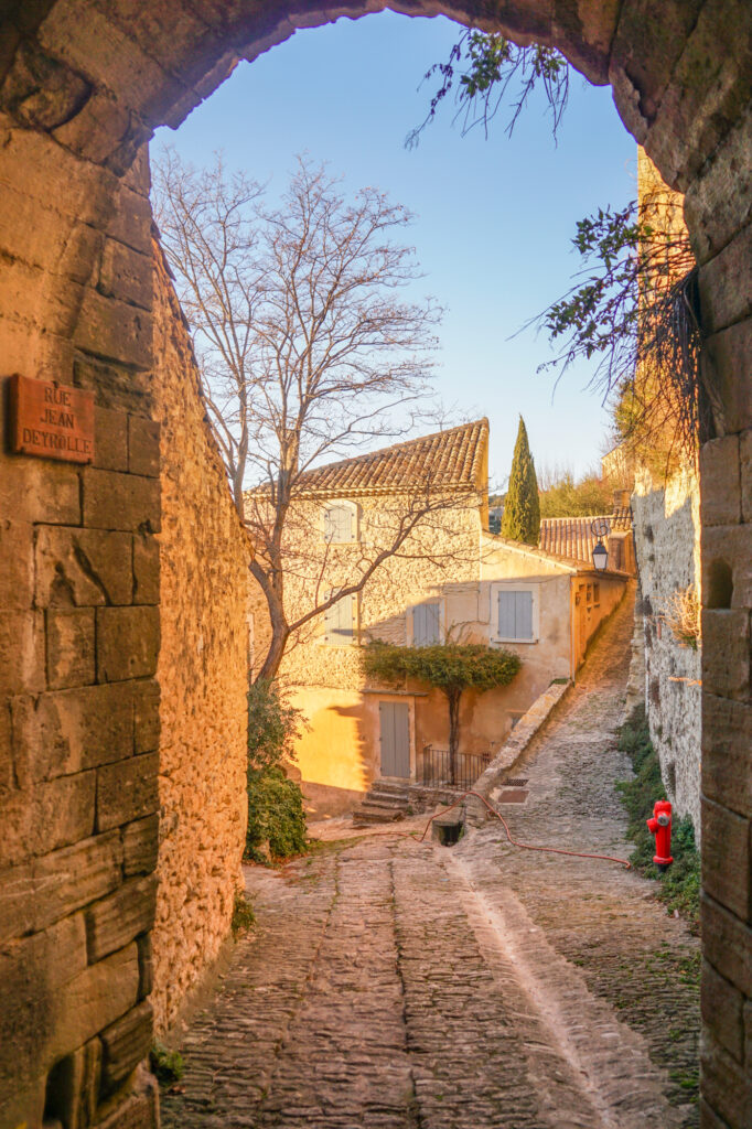 The charming streets of Gordes Provence France