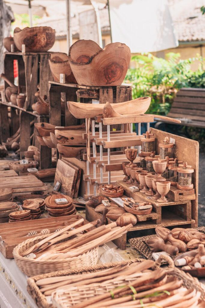 Gordes market day in Provence, France