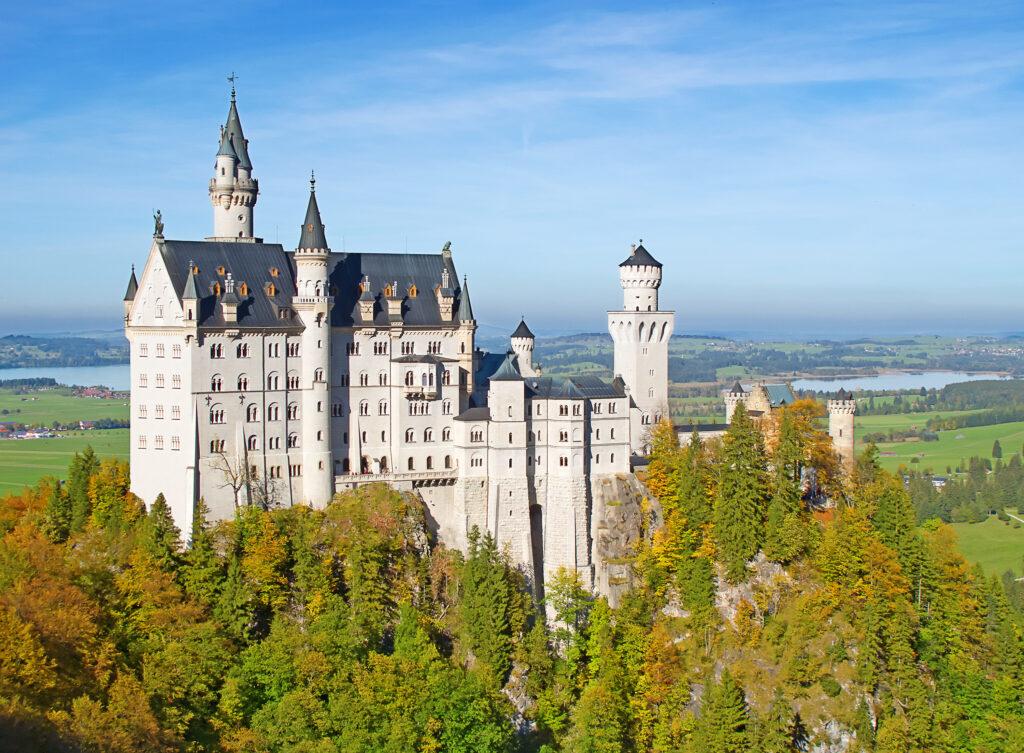 Neuschwanstein castle in Bavarian alps, Germany