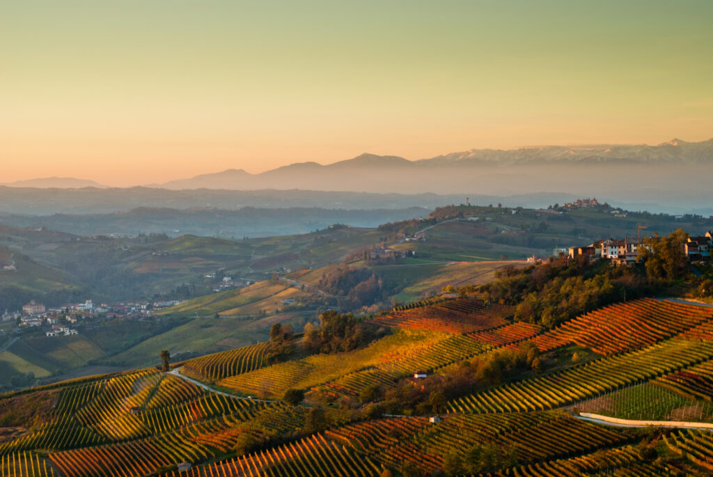 The Piedmont region of Italy is one of the best places to visit in Europe in October