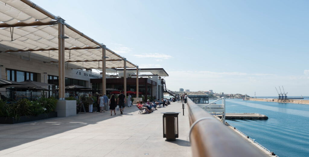 Where to shop in Marseille, France - Les terrasses du port