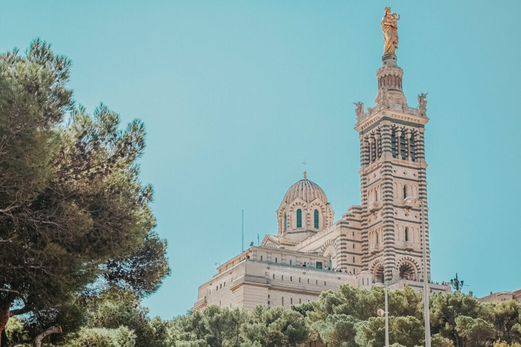 A visit to the Notre Dame de la Garde is one of the best things to do in Marseille, France