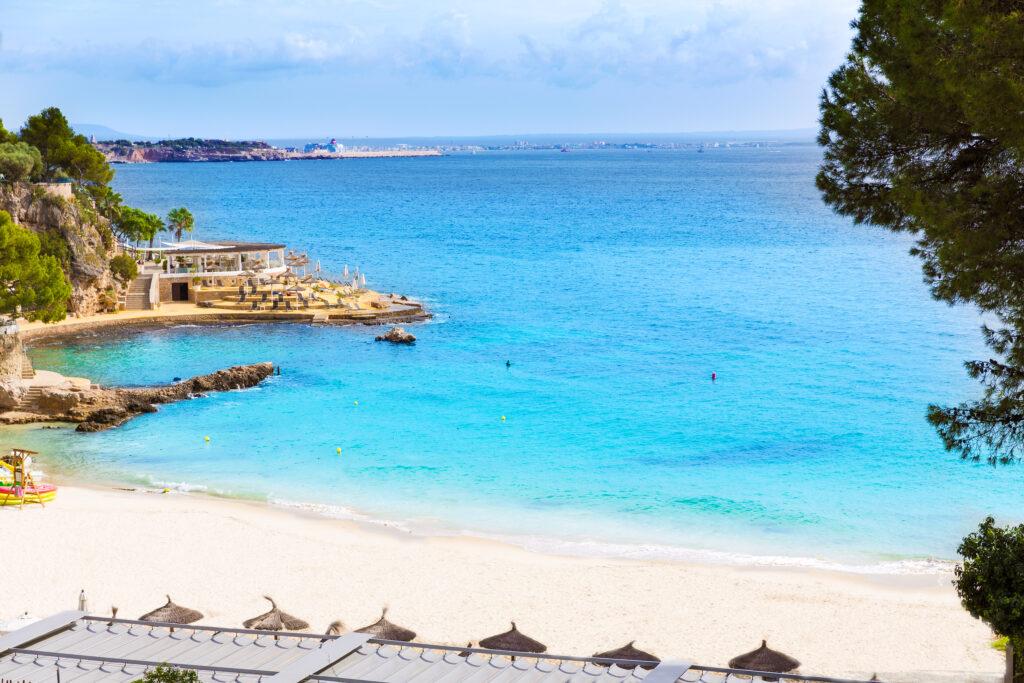 Playa de Illetas in Mallorca, Spain