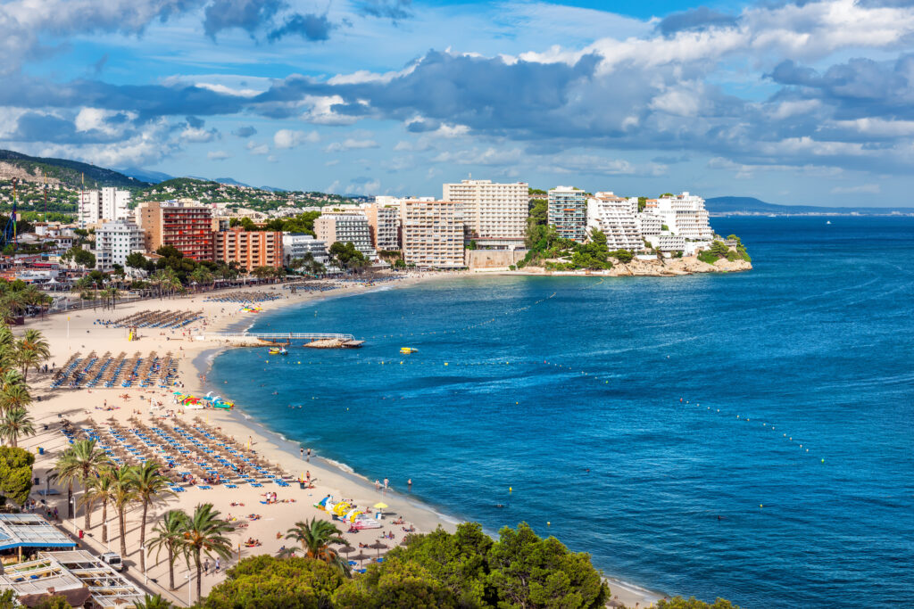 Magaluf is a fun place to stay in Mallorca, Spain